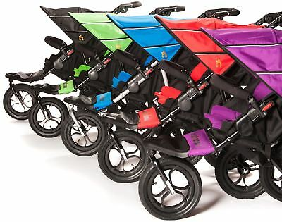 Out 'N' About NIPPER DOUBLE V4 & Rain/Wind Cover Baby Pushchair/Stroller - New