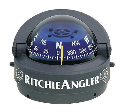 Ritchie Angler Compass Surface Mount Gray Movable Sun Shield RA-93