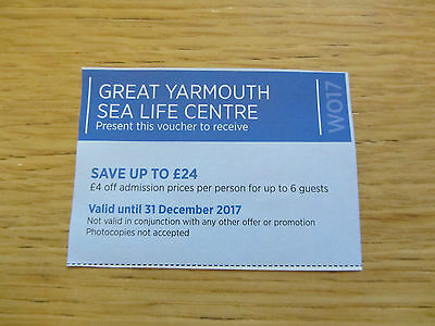 Great Yarmouth Sea Life Centre Voucher - Save Up To £24