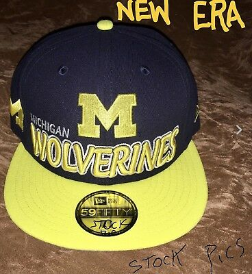 finest selection a5094 20839 ... ireland michigan wolverines throwback hat new era 59fifty fitted cap  mens size 0b8b3 01277