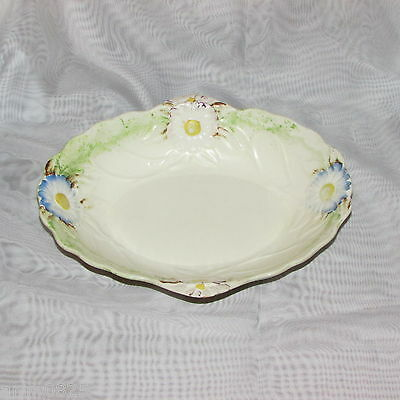 James Kent Fenton Oval Serving Bowl Hand Painted Embossed Flowers 1156 Antique