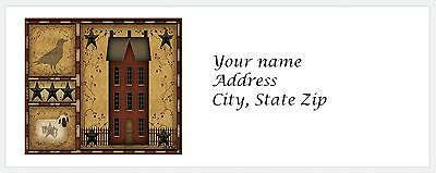 Personalized Return Address Labels Primitive Country Buy 3 get 1 free (c 801)