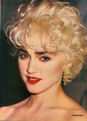 "MADONNA - 11"" x 8"" TEEN MAGAZINE POSTER PINUP GIRL ACTOR - 1987"