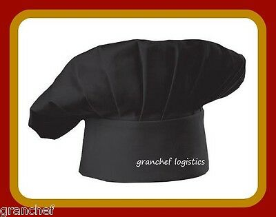 Chef Hat - Black ~ from Chef Works ~ One Size Fits All ~ NIP   Poly/Cotton Mix