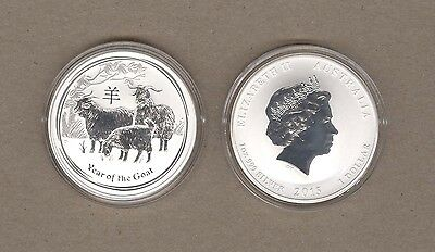 2015 Australia Lunar Series One Ounce Silver Year Of The Goat Coin