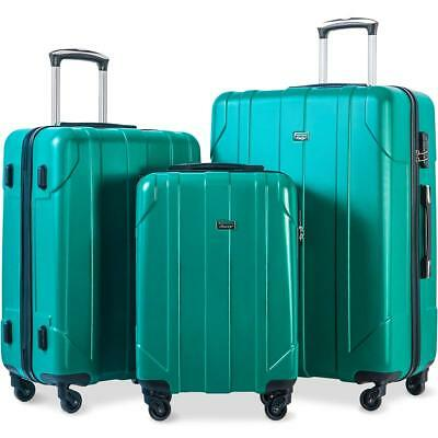 Merax 3 Piece P.E.T Luggage Set Eco-friendly Light Weight Travel Suitcase
