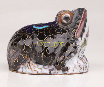 Cloisonne Handcarved Frog Statue Figurine Only One Collectable Old