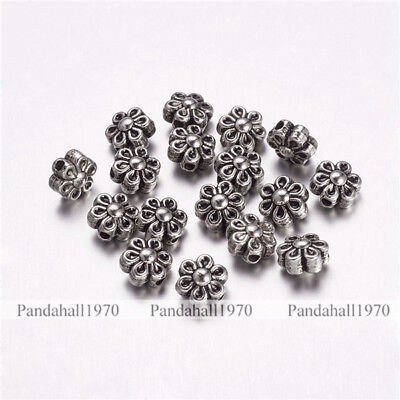 10 Pcs Antique Silver Tibetan Style Alloy Fish Beads Jewelry Making 23x11x4.5mm