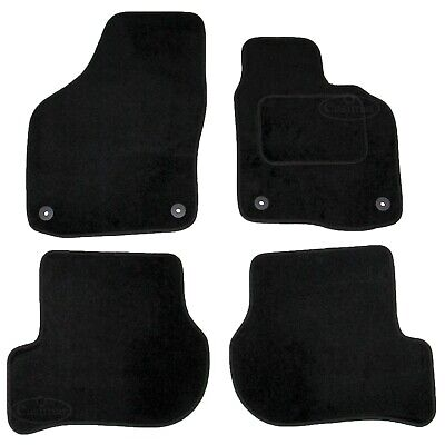 VW Golf Mk6 2008-2013 Fully Tailored Carpet Car Mats Black 4pcs Floor Mat Set
