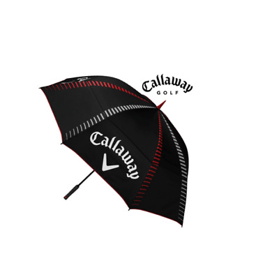 "Callaway 68"" Tour Authentic  Double Canopy Windproof Umbrella (Black/white/red)"