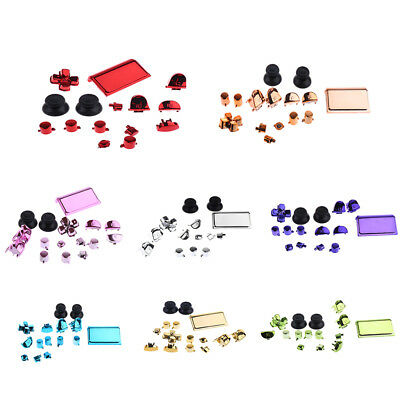 Full Buttons Set Replacement Parts Chrome Triggers for Sony PS4 Controller
