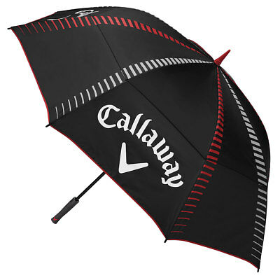 """Callaway Golf 2017 Tour Authentic 68"""" Double Canopy Umbrella - Black/White/Red"""