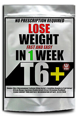 No 1 Weight Loss Pills 60 T6+ Strong Fat Burners Diet Slimming Buy 1 Get 1 Free