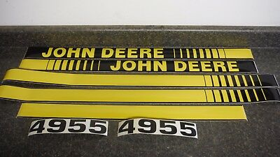 John Deere 4955 Tractor Decals. Hood & Numbers Only. See Details & Pictures