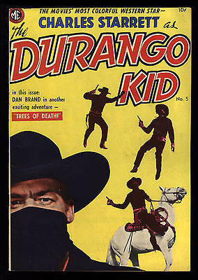 Durango Kid (1949) #5 1st Print Charles Starrett Photo Cov Frank Frazetta Art VF