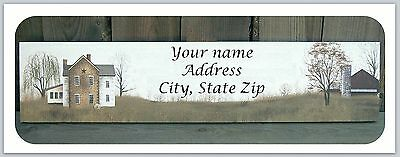30 Personalized Return Address Labels Primitive Country Buy 3 get 1 free (c 798)