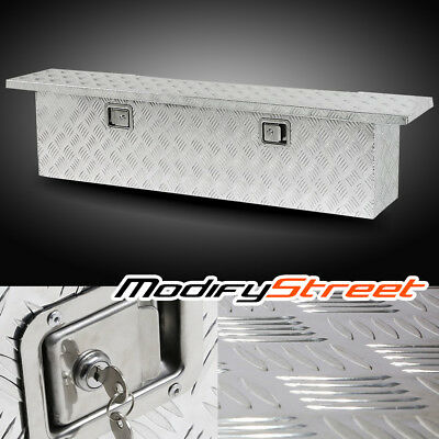 "69"" Silver Aluminum Truck/Pickup Bed Camper Tool Box Storage Trailer Underbody"