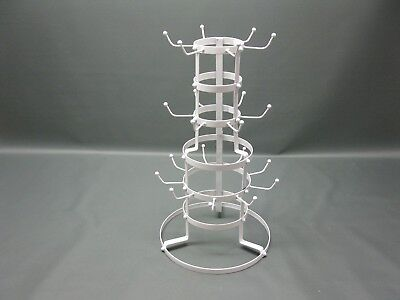 Large Metal Cup Stand Nostalgia Style Cottage 55 cm Mugs Hanger Shelf Rack Round