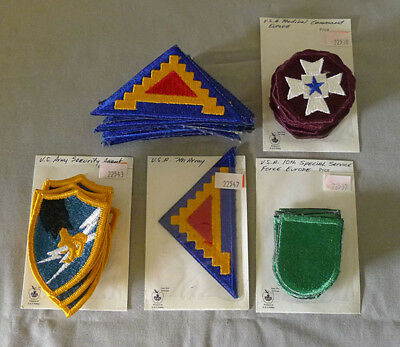 Lot of 47 Original WW2 - WWII US Military Cloth Patches