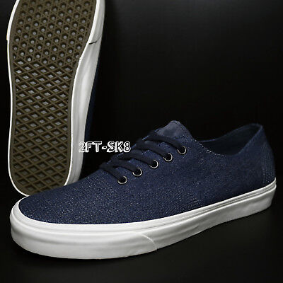 08fd764d85 Vans Authentic Pig Suede Denim Parisian Night Men s 11.5 Skate  Shoes s7B144.148