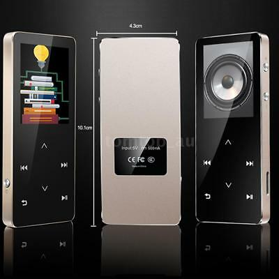 "Metal Bluetooth HiFi MP3 MP4 Music Player 8GB 1.8"" LCD Screen Record FM TF F0T4"