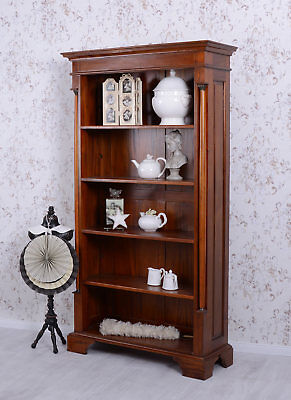 Standing Shelf Mahogany Rack Bookcase Solid Wood Wooden Antique