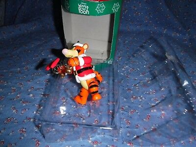 """Disney Winnie the Pooh Christmas Ornament Tigger Spring w/ Bow About 3 1/4"""" High"""