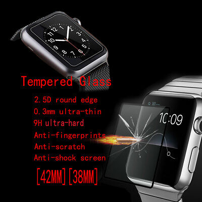 3D Full Cover Tempered Glass Screen Protector for Apple watch iwatch 38mm/42mm