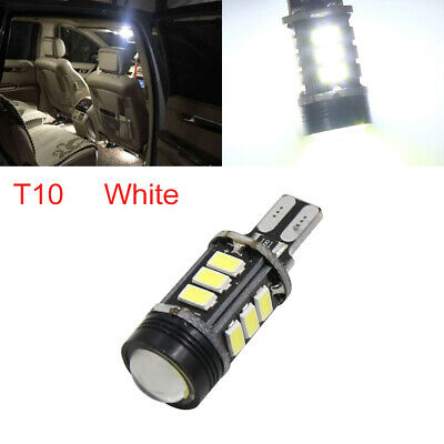 Canbus Error Free T10 White 12 5050-SMD-LED Projector Len Light Bulb W5W 194 192