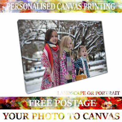 Canvas Print Your Photo To Canvas Personalised 20Mm Ready To Hang - A4 A3 A2 A1
