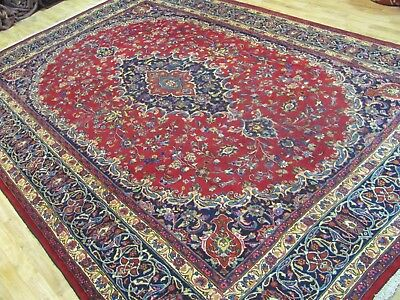 A MARVELLOUS OLD HANDMADE MASHAD KHORASON PERSIAN CARPET (360 x 248 cm)