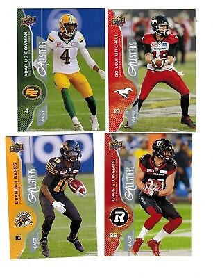 2017 Upper Deck CFL Allstars All-stars SP's Pick from List to complete your set