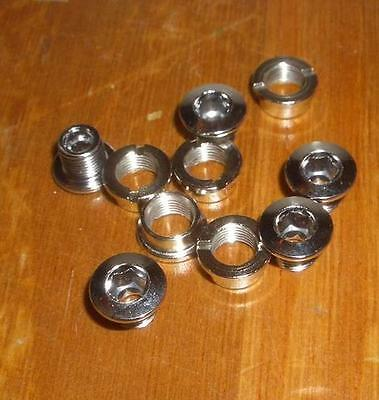 NOS Vintage Old School BMX Bicycle Chrome Steel Chainring Bolts