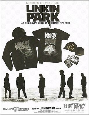 Linkin Park Chester Bennington Minutes to Midnight Hot Topic Clothing 8 x 11 ad