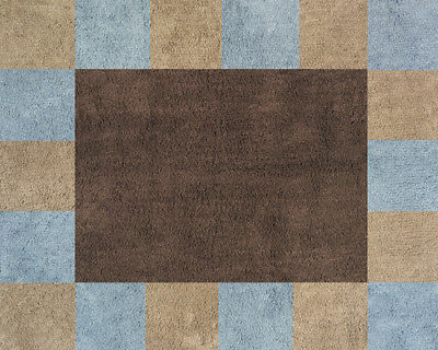 Boy Baby Kids Floor Rug for Sweet Jojo Designs Blue and Brown Soho Bedding Sets