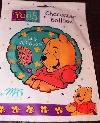 "New Winnie The Pooh Birthday Silly Bear 18"" Mylar Balloon  Party Supplies"
