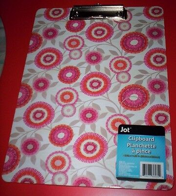 Jot Clipboard~Colorful Abstract Designs W/ Clip~