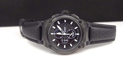 Citizen CA0315-01E Eco-Drive Chronograph Black Dial & Leather Strap Men's Watch