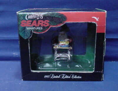 Vintage Christmas at Sears Miniatures Craftsman WORK BENCH Ornament w/Box