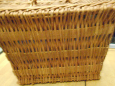Vintage Large Wicker Doll Basket. Came With Old Dolls