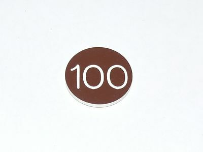 "Lammers Buttons 100 Brown 1-1/8"" Gambling Poker 38 Buttons"