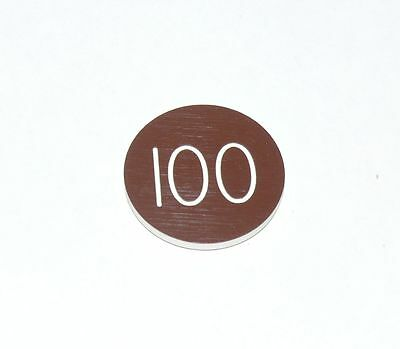 Lammers Buttons 100 Brown Gambling Poker Lot 99 Chips