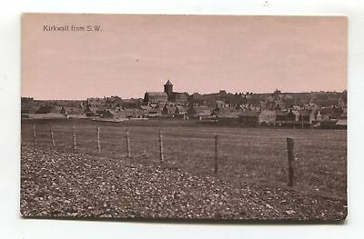Kirkwall - general view - old Orkney postcard