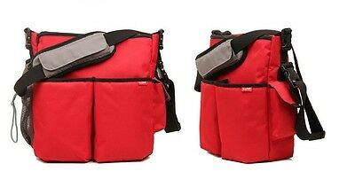 New RED BLOVE Baby Changing Bag / Diaper Bag with Stroller Strap