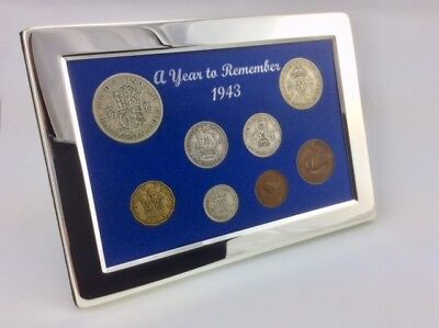 Gift Boxed 81st Birthday Present Silver Framed A Superb 1940 Coin Year Set