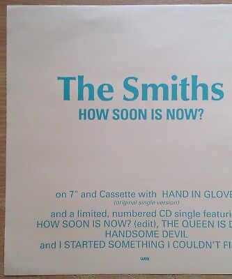 "The Smiths  How Soon Is Now  Original 1992 UK 12"" Promo Instore Display Flat"