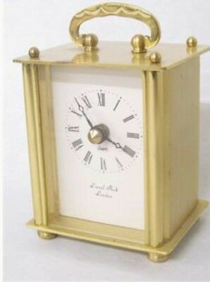 Brass Carriage Clock From Lionel Peck of London , Quartz Movement.