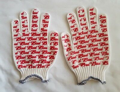New Pair Of Budweiser Delivery Driver Style Bud Gloves With Red Grips