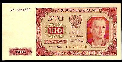 Poland 100 Zlotych  1948  XF Pick # 139b Without Outer Line