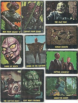 25 Outer Limits trading cards 1964 - printed in Canada - sci-fi